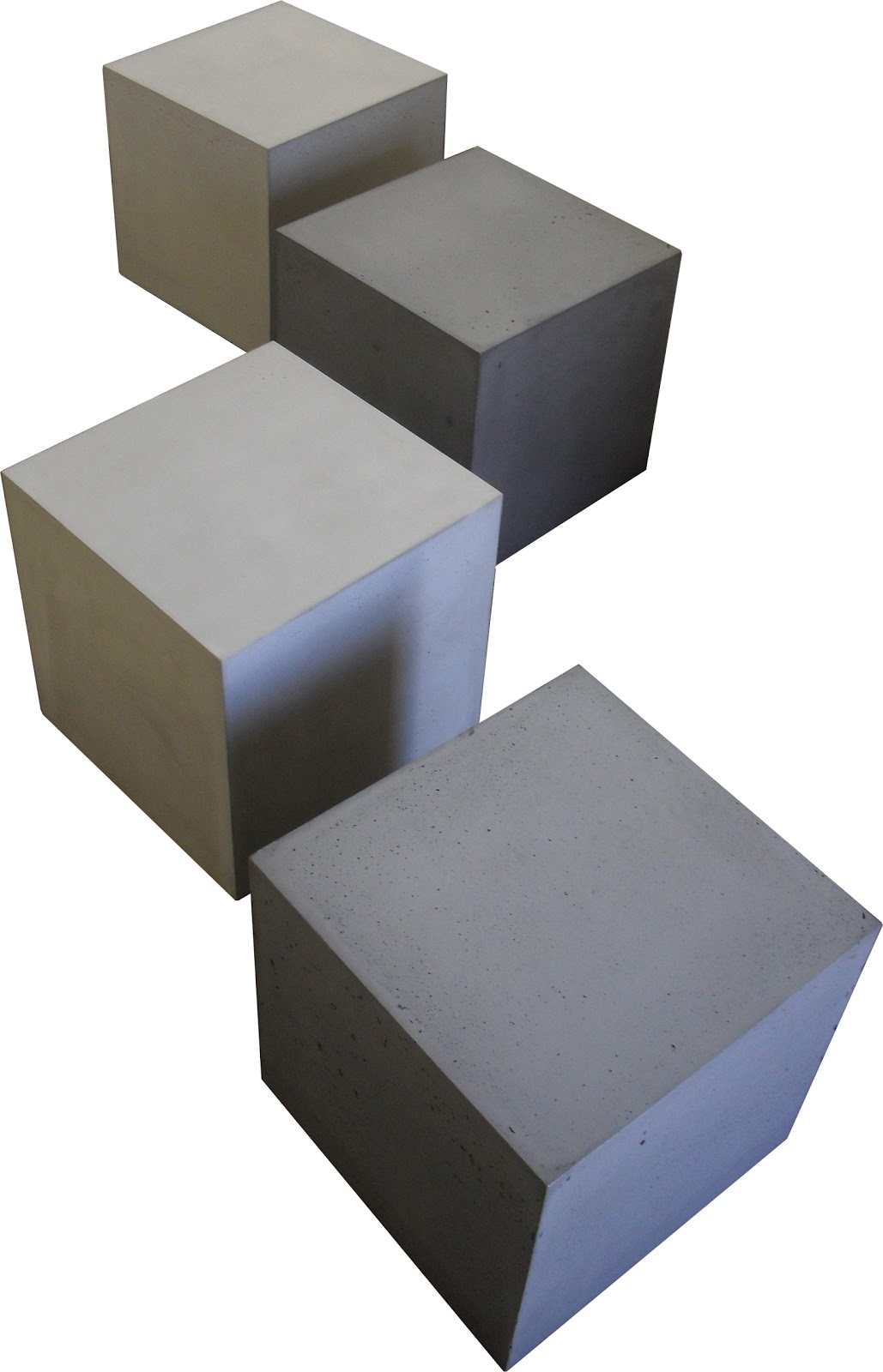 table beton le cube concrete by lcda multitaches. Black Bedroom Furniture Sets. Home Design Ideas