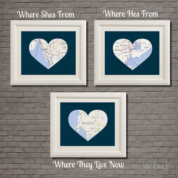 three heart maps