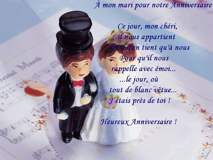 bon anniversaire de mariage mon mari