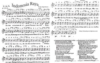 Not lagu Indonesia Raya yang sering kali tidak di tulis secara lengkap