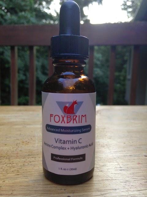 bottle of Foxbrim vitamin C serum