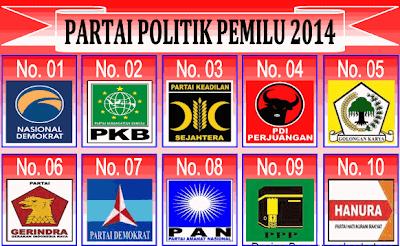 gambar partai politik 2014