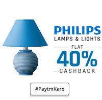 Paytm : Philips Lighting Extra upto 51% Cashback : buytoearn