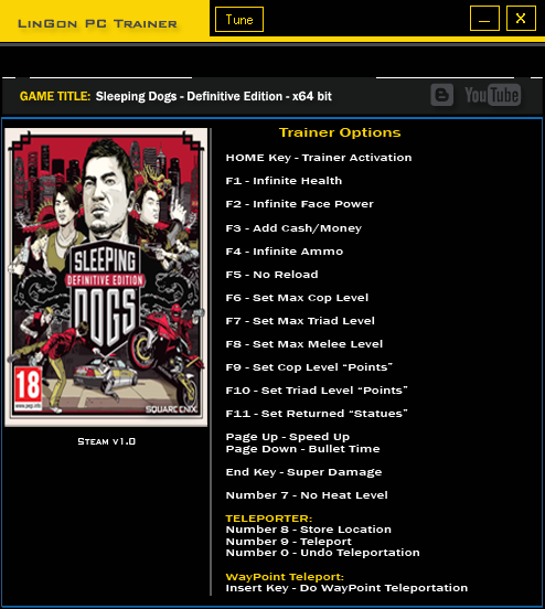 Sleeping Dogs Definitive Edition trainer games