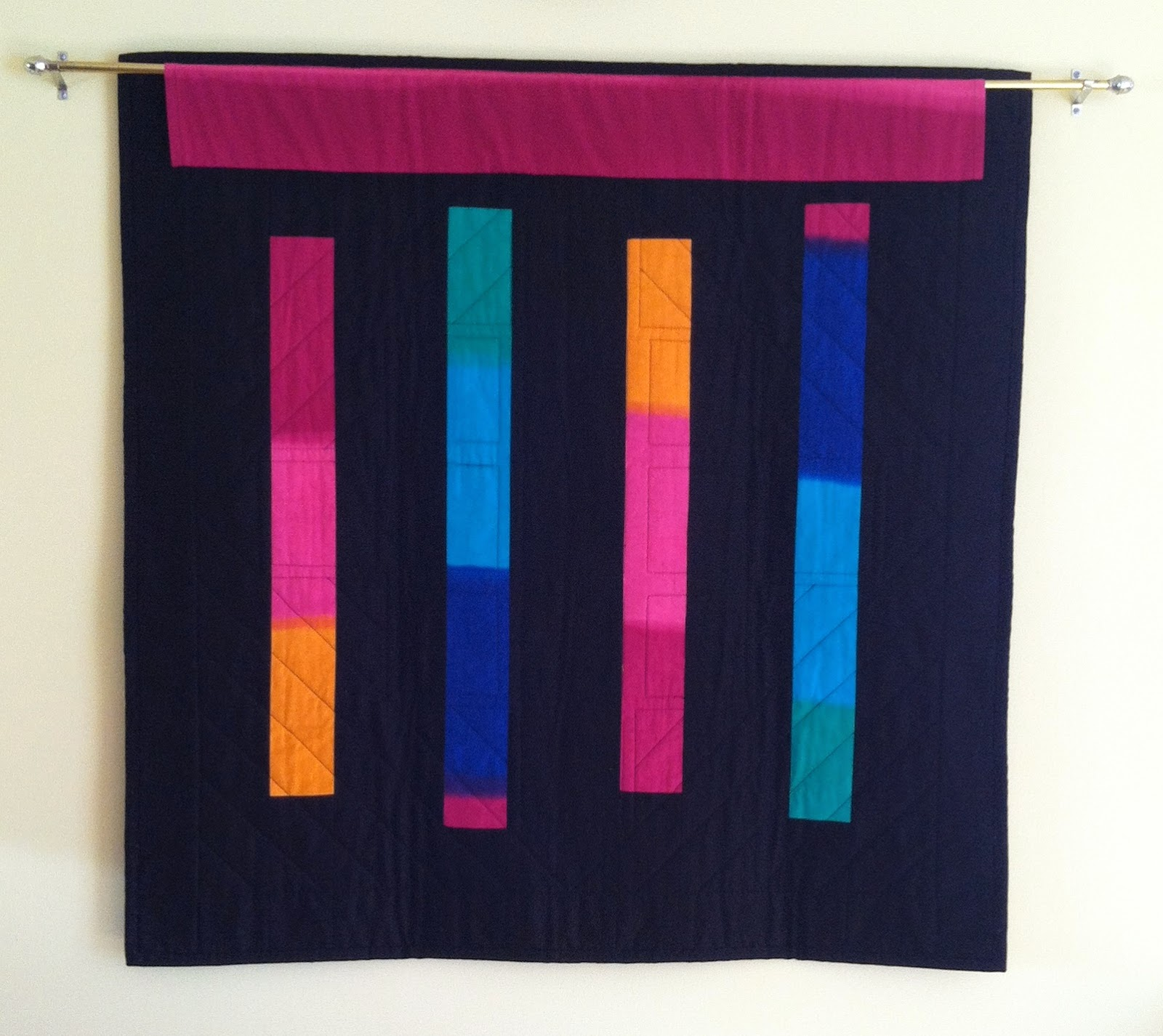 Amish Looking Quilt - Reversible too! I love the colors!