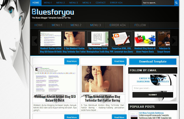 Bluesforyou Blogger Template