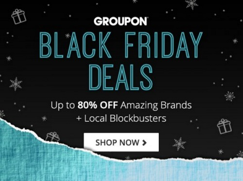 Groupon Black Friday Deals Up To 80% Off