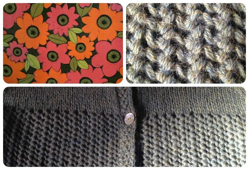 Gilet alpaga Drops ajouré gris vert point turc tricot
