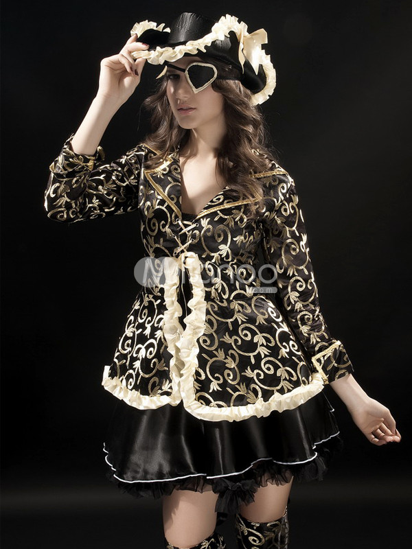 Sexy Black Deluxe Pirate Costume