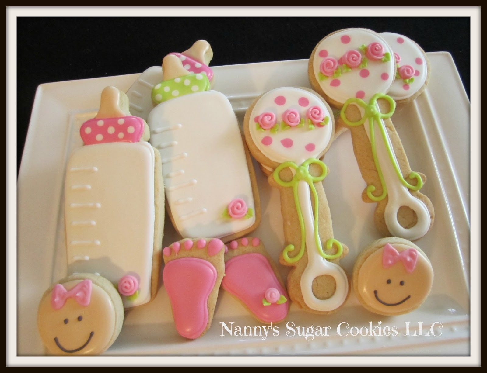 nanny 39 s sugar cookies llc baby shower cookie favors