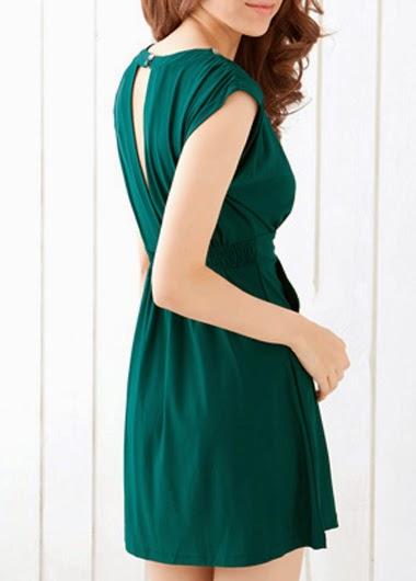 Vestido Informal Corto con Abertura en la Espalda