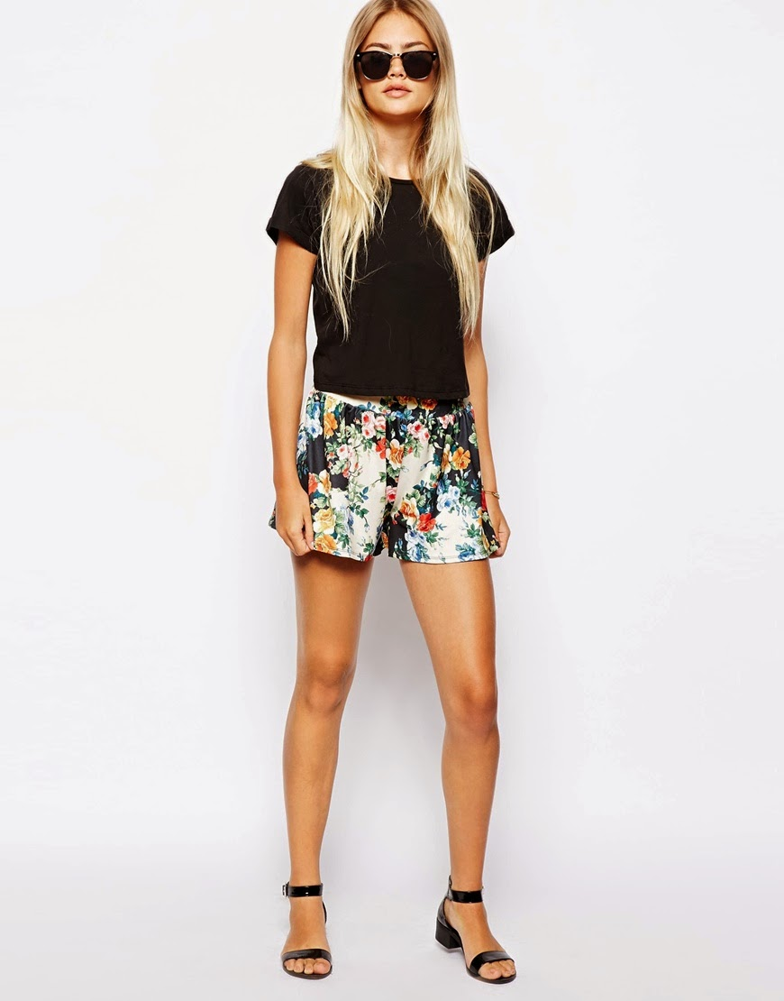 floral culotte shorts