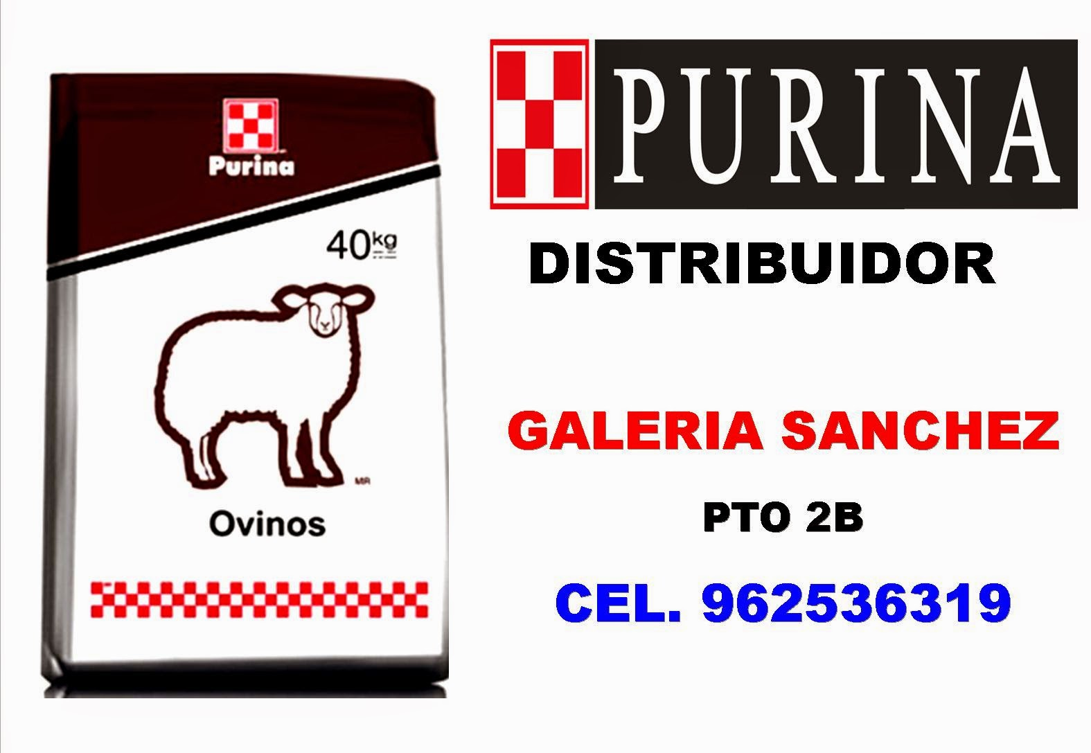Ovinos distribuidor purina for Alimentos balanceados para truchas