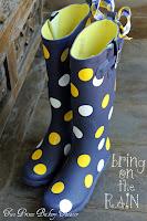 Rain Boots Polka Dots