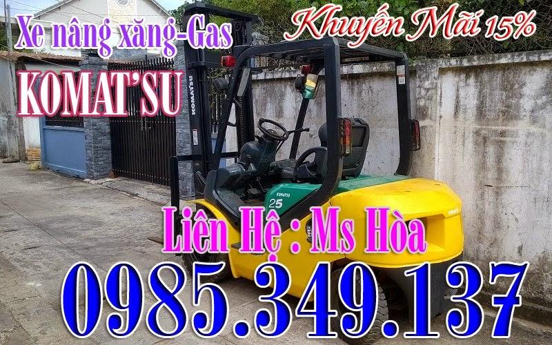 Xe nâng xăng- gas Komatsu 2.5T-3M