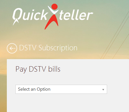 quickteller dstv bill payment option