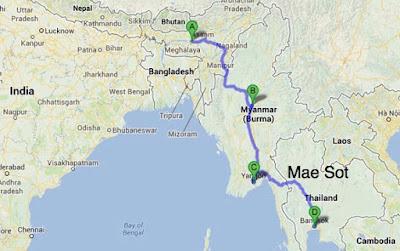 Asia Highway Thailand Indien