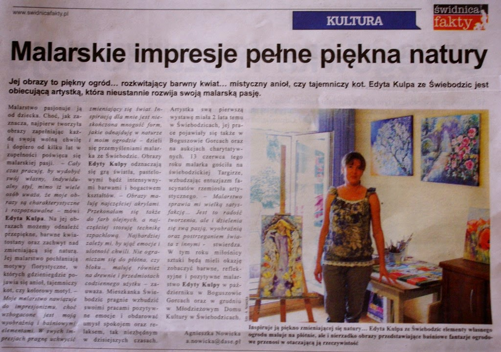 O mnie,Tygodnik Świdnicki, Fakty 2014r