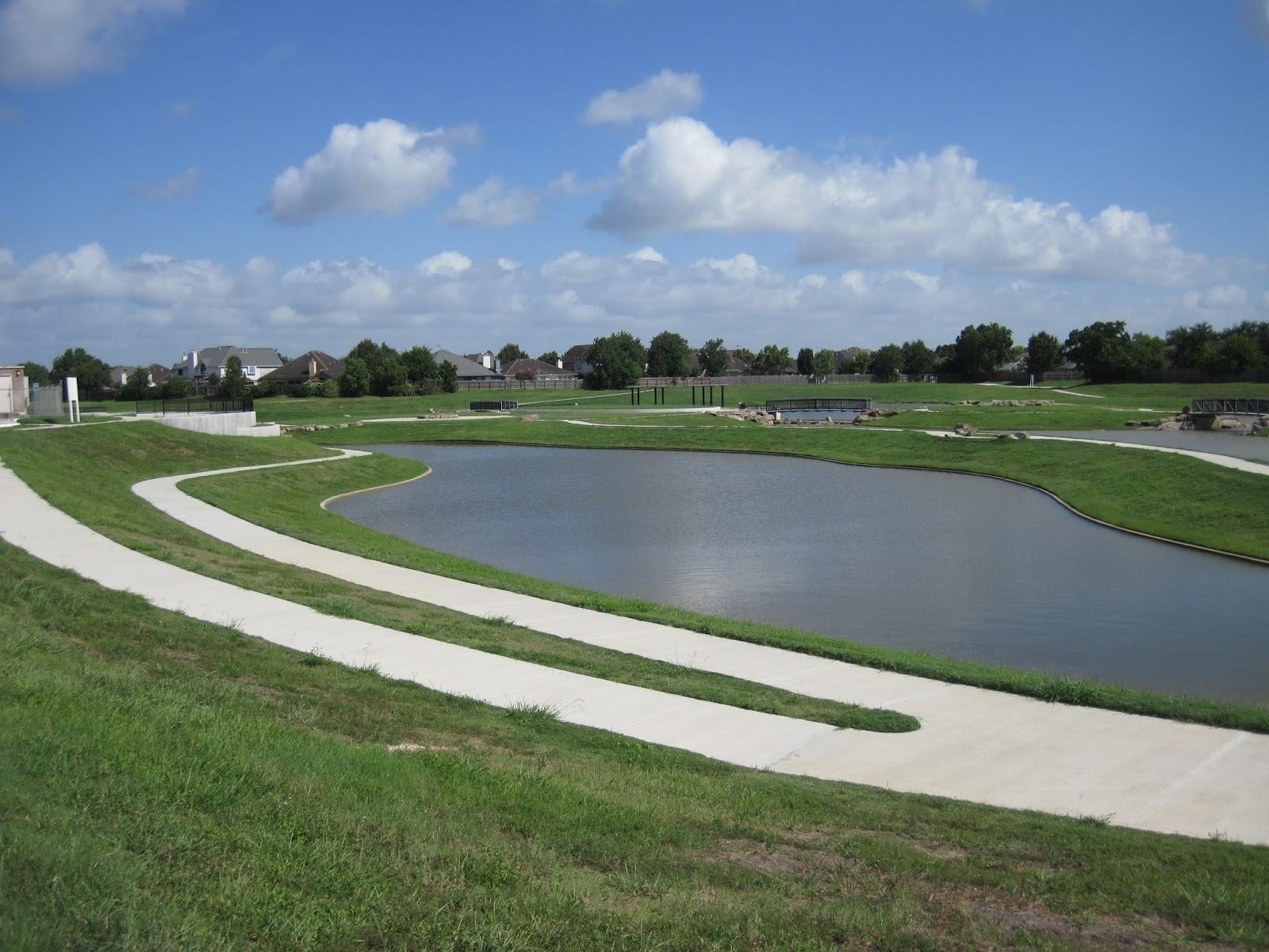 Baytown Bert's Blog-- -- - : Friendswood Texas Detention Pond