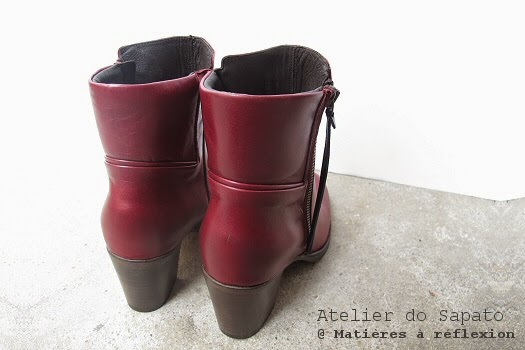 Bottines hautes cuir bordeaux Atelier do Sapato