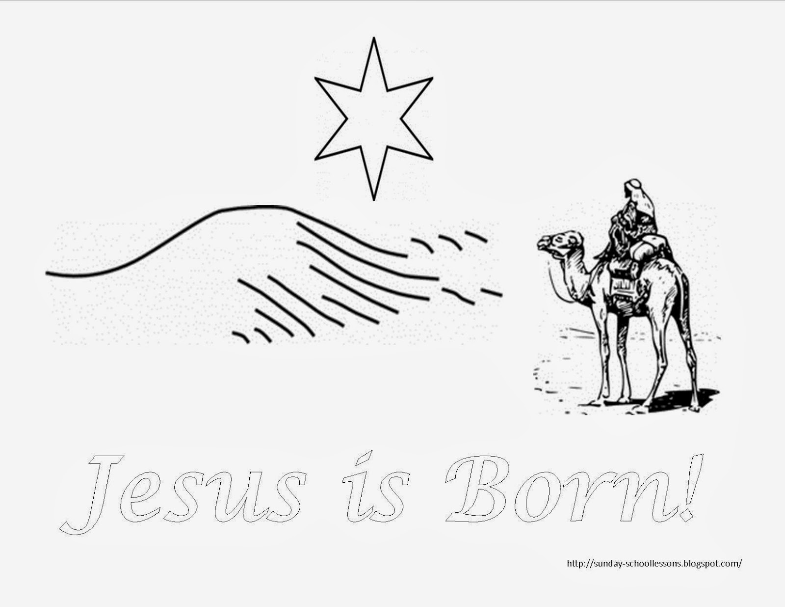 coloring pages christmas sunday school - photo#45