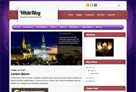 WhiteBlog Blogger Template