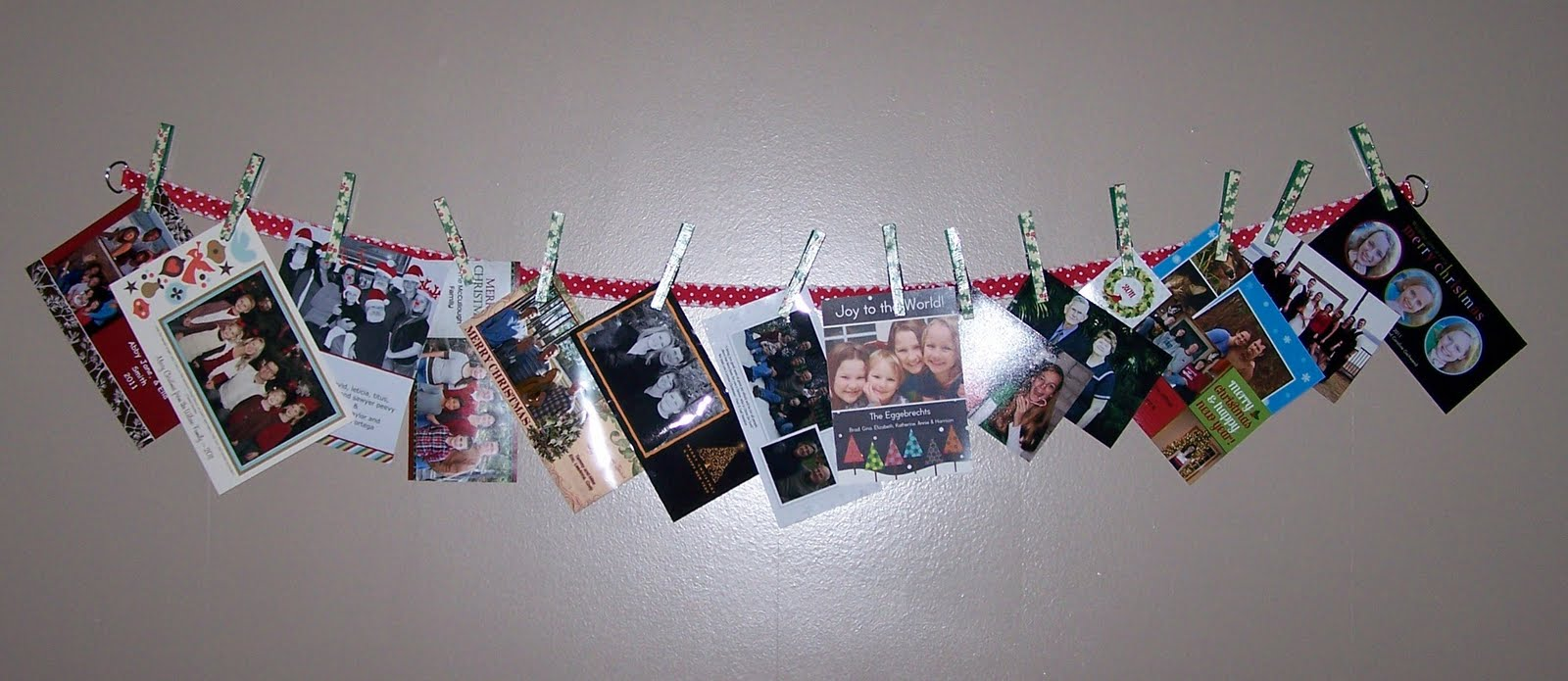 Clothespin Christmas Card Hanger