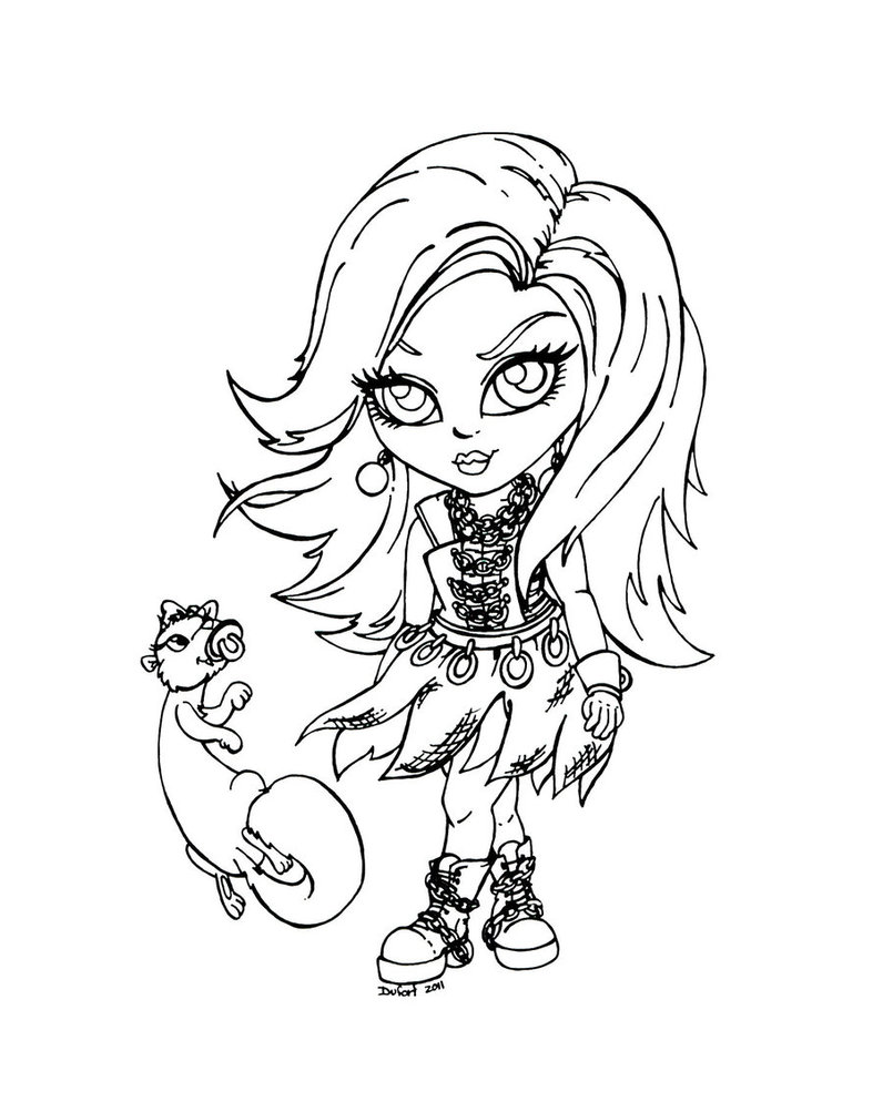 Pintar Monster High Dibujos Gratis Para Colorear