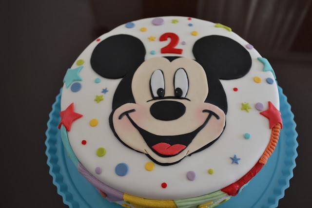 Tarta cara Mickey Mouse Fondant cumpleaños