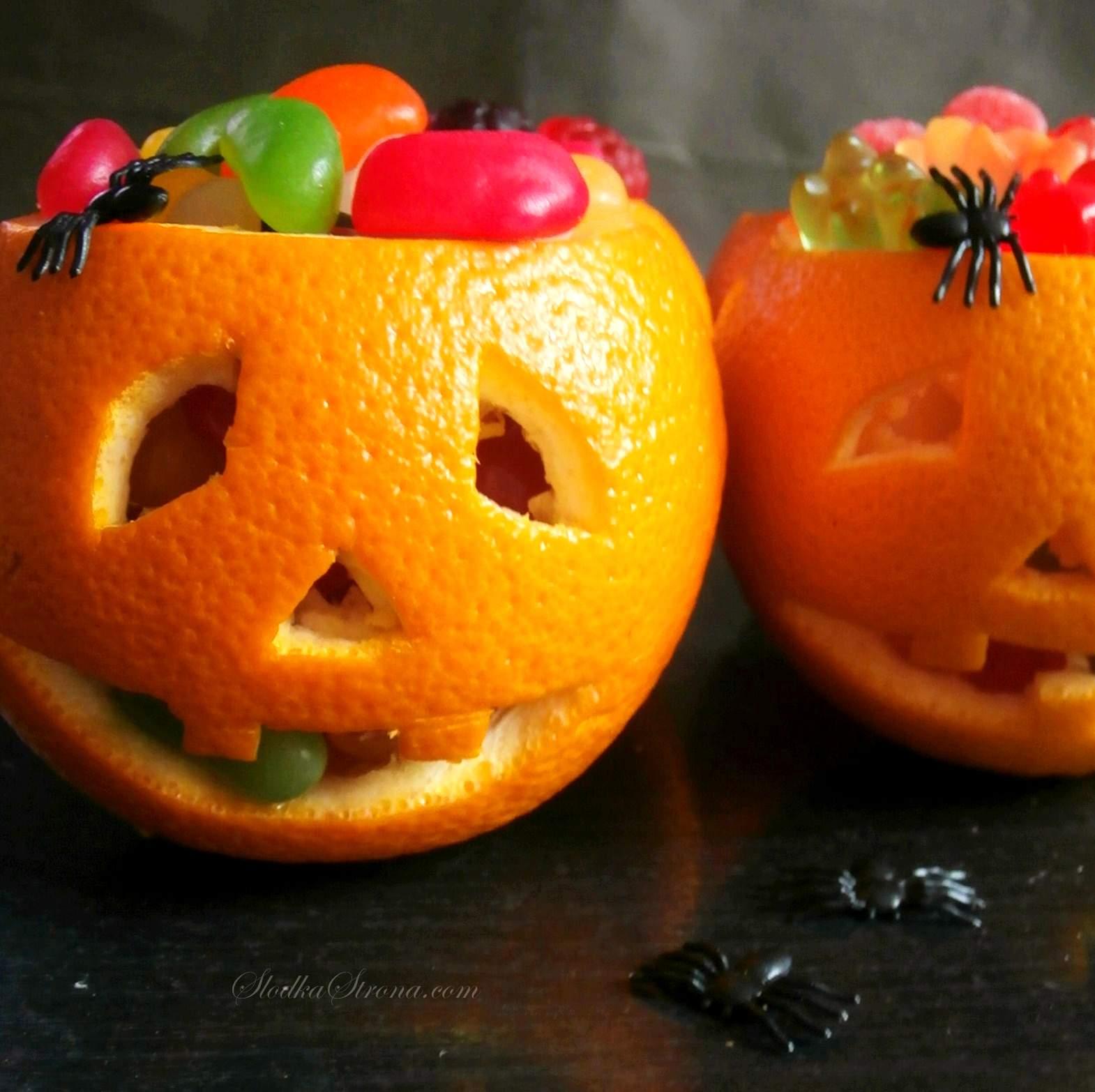 Dynie z Pomarańczy na Słodycze i Przekąski - Halloween