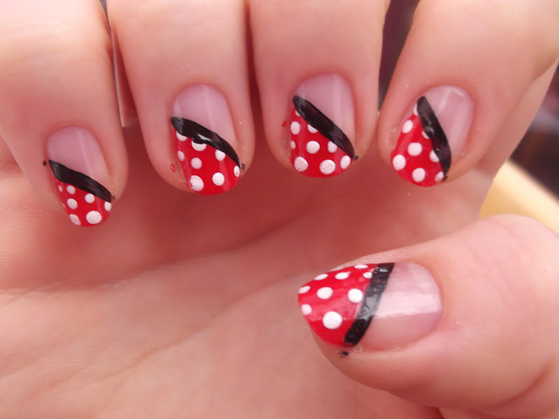 Nail Art Design 2014: Nail art red and white