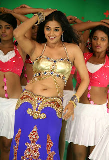 Priyamani in a Spicy Golden Choli HQ pics from an item song