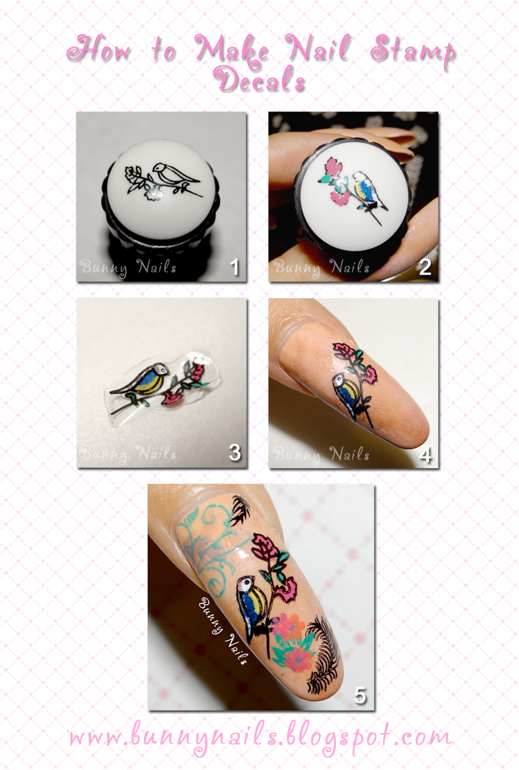 color nail polish: How to do Nail Stamp Decals