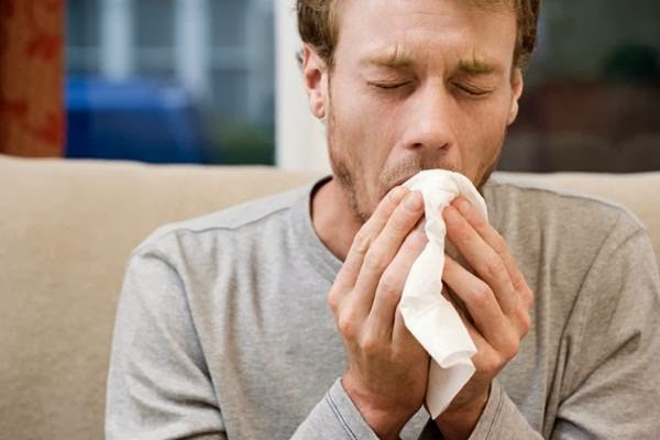 Person suffering from whooping cough