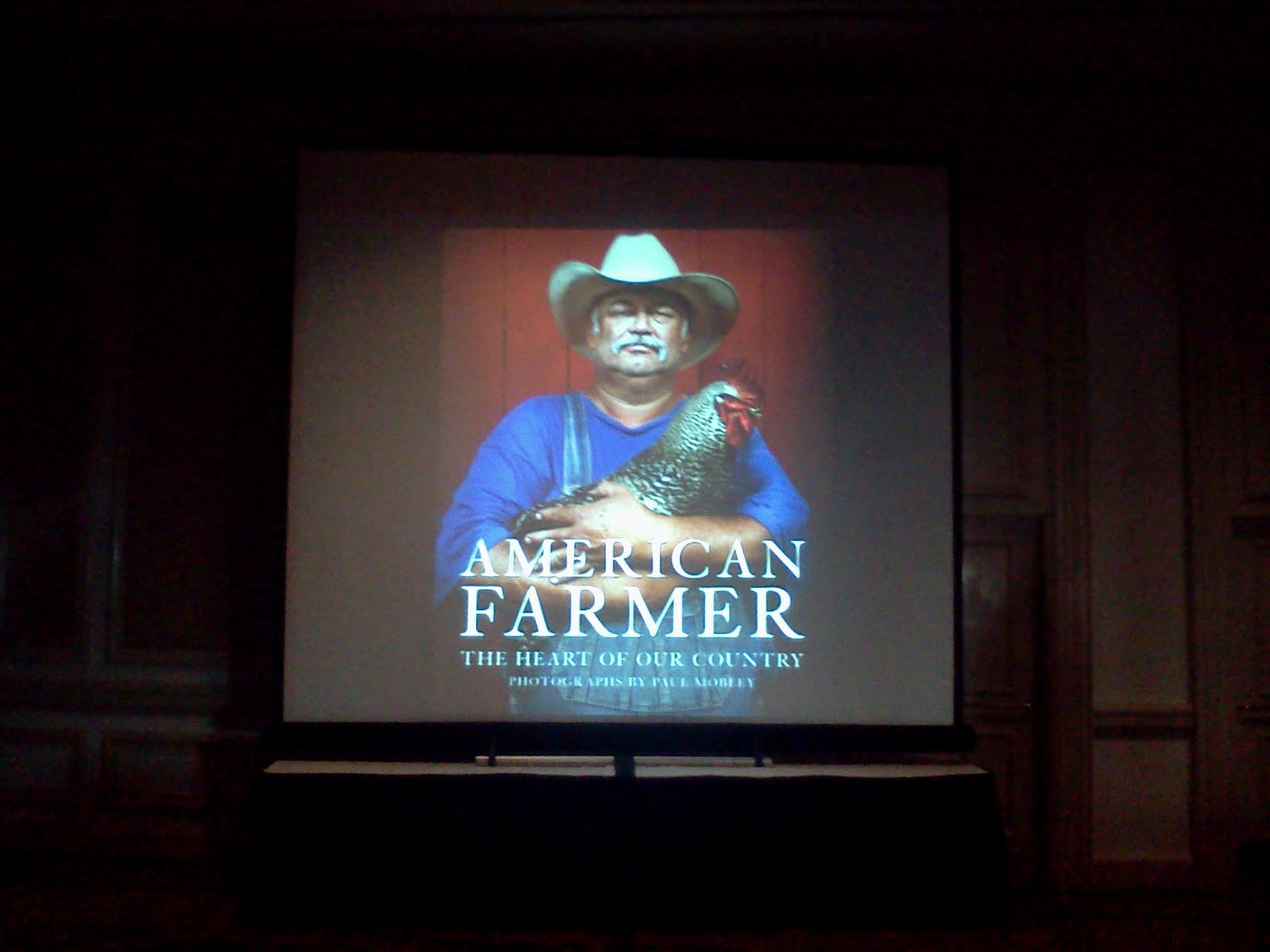 looking to a presentation on the american farmer by paul mobley