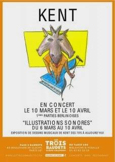 Kent. A l'occasion de ses concerts aux Trois Baudets les 10 mars et 10 avril prochains, le public pourra découvrir d'autres facettes du talent de l'artiste.