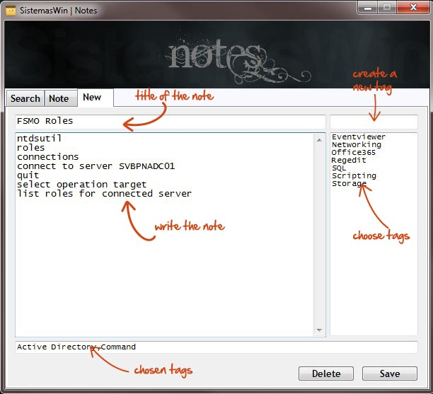 Notes GUI