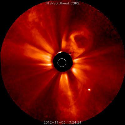 Eyección de masa coronal 03 de Noviembre 2012
