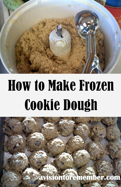 How to Make Frozen Cookie Dough by A Vision to Remember