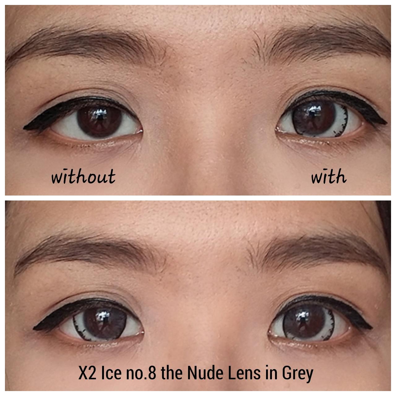 X2 Ice Nude N8 Softlens - Minus 2.00- Gray + Gratis Lenscase ... a1251fe175