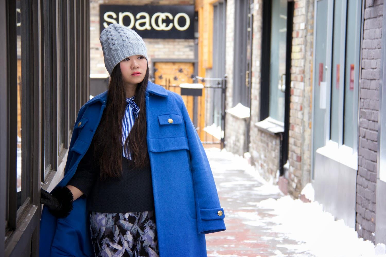 Club-Monaco-Pastel-Beanie, Joe-Fresh-Winter-Coat, Fashion-Blogger, Bow-Tie