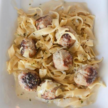 Meatball stroganoff, meatball, stroganoff, beef, ground beef, pasta
