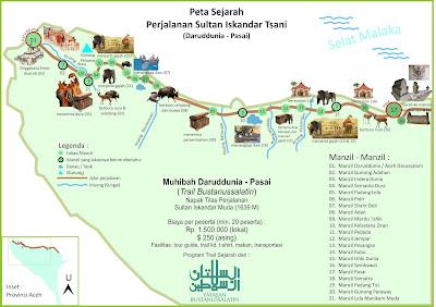 Peta Sejarah Perjalanan Sultan Iskandar Tsani