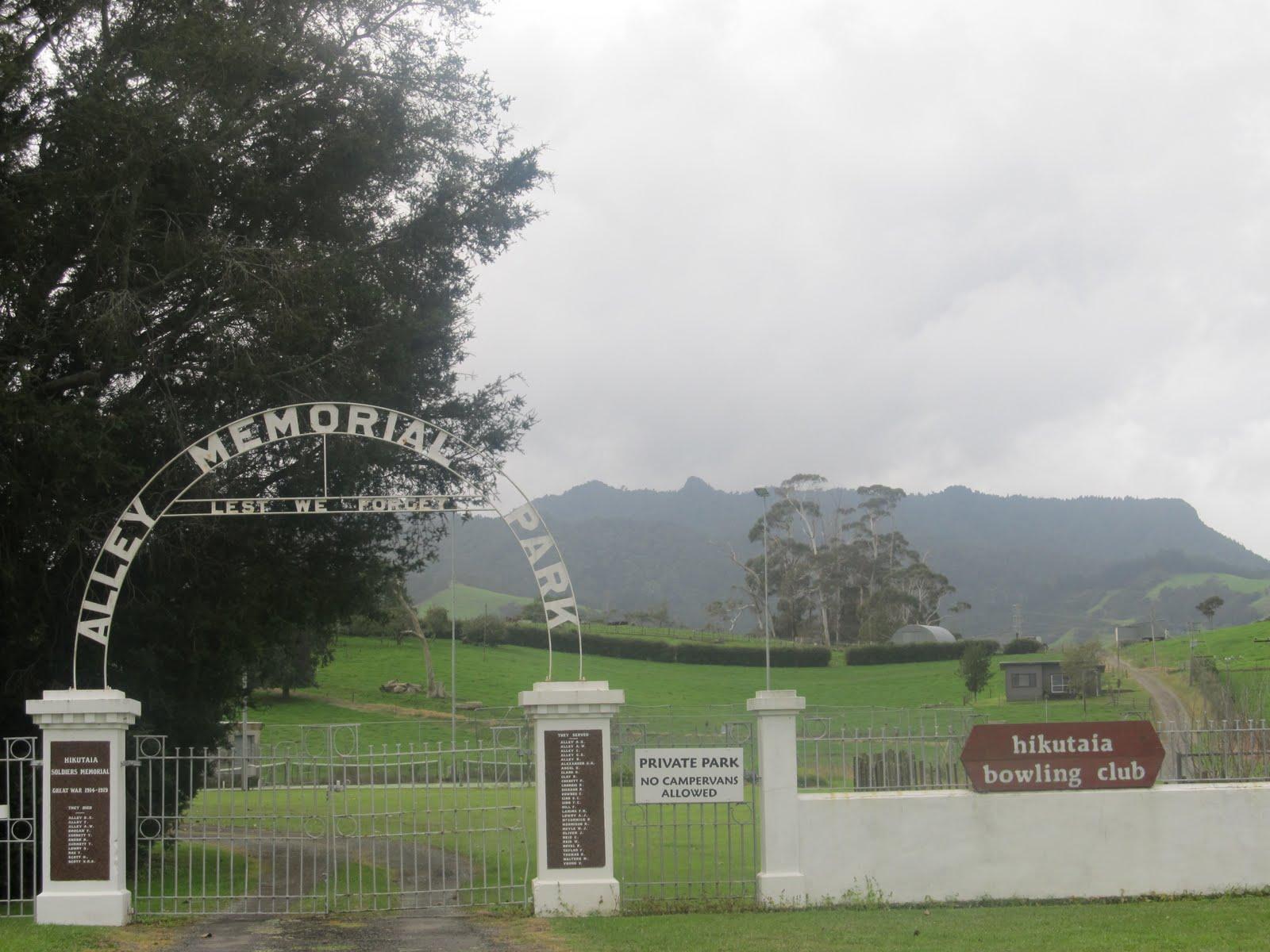 Hikutaia New Zealand  City new picture : ... World War One Memorials 1914 2014: Hikutaia Memorial 22 April 2011