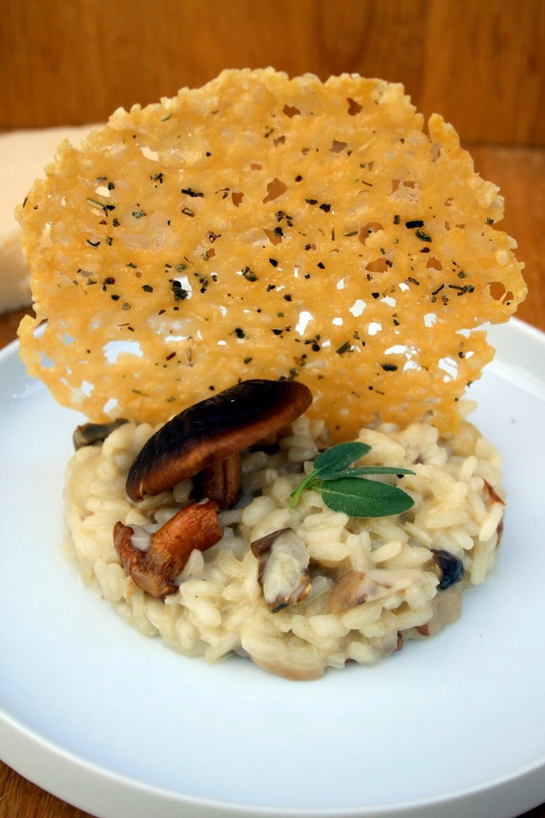 Amapola el mundo en un plato risotto de setas con chip - Rissotto de setas ...