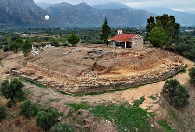 Aghios Vassilios - El sitio de excavación cerca de Esparta con ruinas de un palacio de la época micénica G. Xenikakis AFP