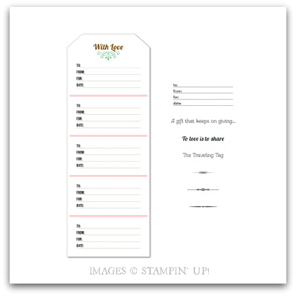 Stampin' Up! Traveling Tag Designer Template Digital Download