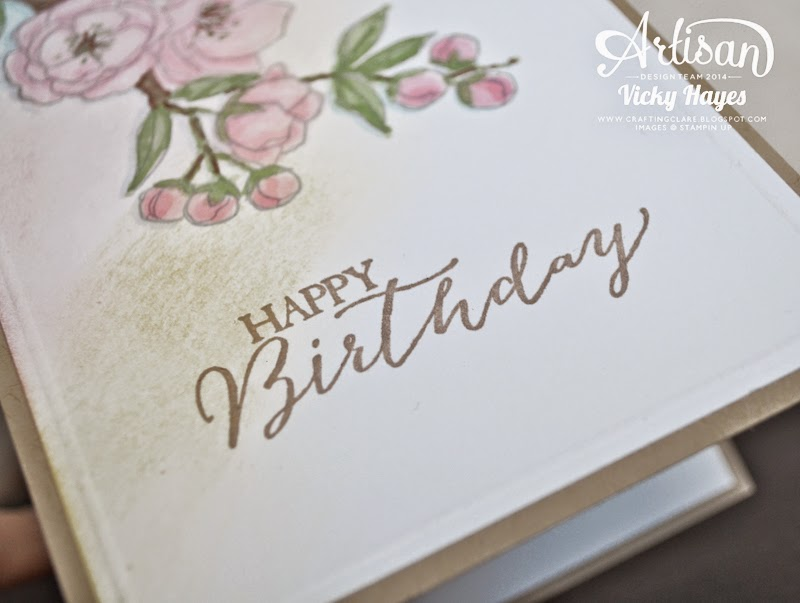 Butterfly Basics from Stampin' Up has a perfect font for a birthday greeting