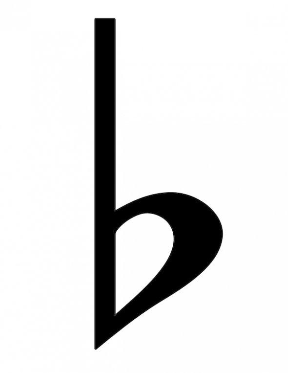 B Flat Sign Sharp,Flat & Natur...
