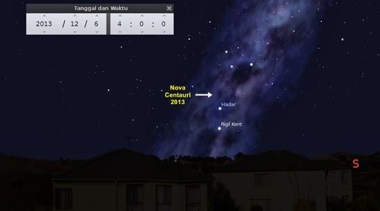 Temukan Nova Centauri 2013 Malam Ini